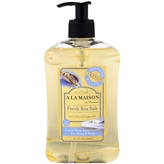 A La Maison de Provence, Hand and Body Soap, Fresh Sea Salt, 16.9 fl oz (500 ml)
