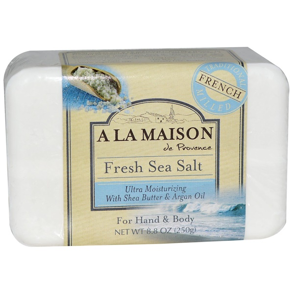 A La Maison de Provence, Мыло для рук и тела (твердое), свежая морская соль, 8,8 унций (250 гр) (Discontinued Item)