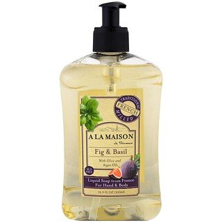 A La Maison de Provence, Hand and Body Soap, Fig and Basil, 16.9 fl oz (500 ml)