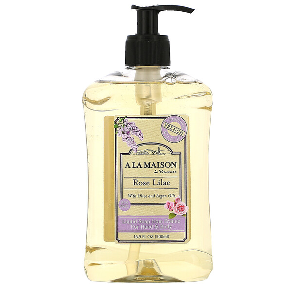 Hand & Body Liquid Soap, Rose Lilac, 16.9 fl oz (500 ml)
