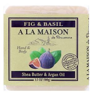 А Ла Мэзон Дэ Прованс, Hand & Body Bar Soap, Fig & Basil, 3.5 oz (100 g) отзывы