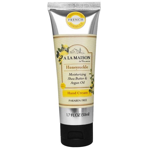 A La Maison de Provence, Hand Cream, Honeysuckle, 1.7 oz (50 ml) (Discontinued Item)