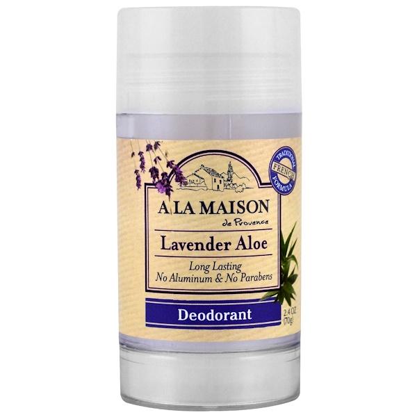 A La Maison de Provence, 除臭劑,薰衣草蘆薈,2、4盎司(70克)