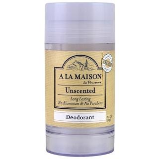 A La Maison de Provence, Deodorant, Unscented, 2.4 oz (70 g)