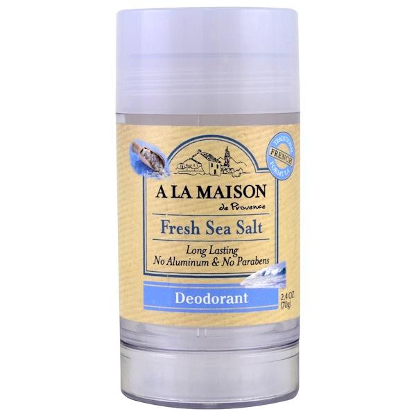 A La Maison de Provence, 除臭劑,新鮮海鹽,2、4盎司(70克)