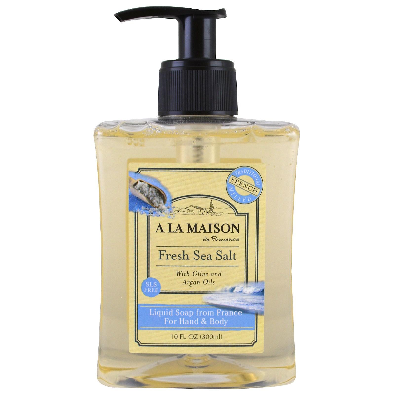A La Maison de Provence, Жидкое мыло для рук и тела, морская соль, 300 мл (10 fl oz)