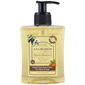 A La Maison de Provence, Жидкое мыло для рук и тела, сладкий миндаль, 10 мл (300 мл) купить на iHerb