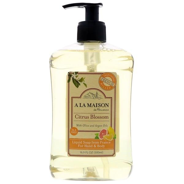A La Maison de Provence, 手部及身體皂液,柑橘花,16、9 液體盎司(500 毫升)