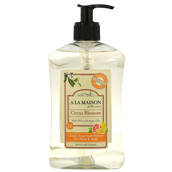 A La Maison de Provence, Liquid Soap For Hand & Body, Citrus Blossom, 16.9 fl oz (500 ml)