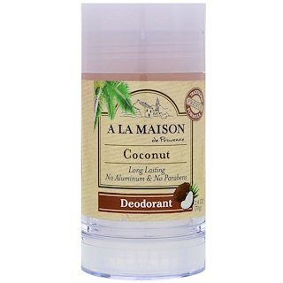 A La Maison de Provence, Desodorante, coco, 2.4 oz (70 g)