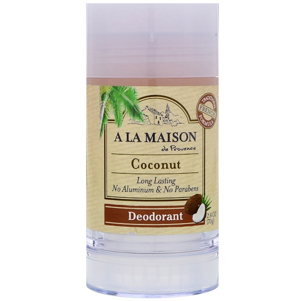 A La Maison de Provence, Дезодорант, кокос, 2,4 унц. (70 г) (Discontinued Item)
