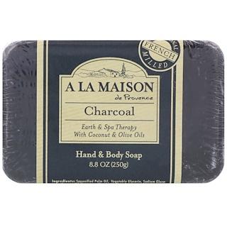 A La Maison de Provence, Barra de jabón para manos y cuerpo, carbón, 8.8 oz (250 g)