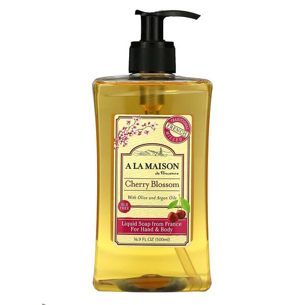 Liquid Soap For Hand & Body, Cherry Blossom, 16.9 fl oz (500 ml)