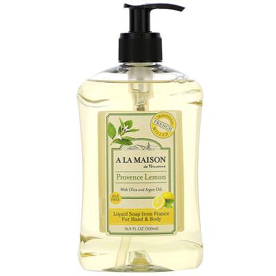 Купить A La Maison de Provence Liquid Soap For Hands & Body, Provence Lemon, 16.9 fl oz (500 ml)