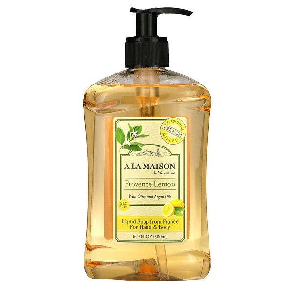 Liquid Soap For Hands & Body, Provence Lemon, 16.9 fl oz (500 ml)