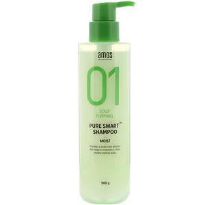 Amos Professional, 01 Scalp Purifying, Pure Smart Shampoo, Moist, 500 g отзывы