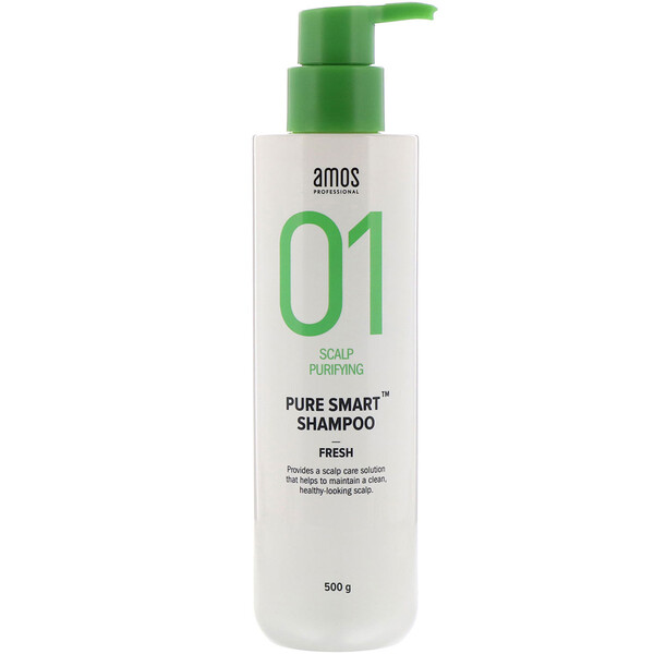 Amos, 01 Scalp Purifying, שמפו Pure Smart, רענן, 500 גרם (Discontinued Item)