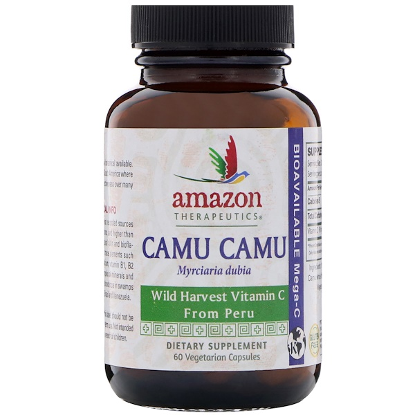 Amazon Therapeutics, Camu Camu, 60 Vegetarian Capsules (Discontinued Item)