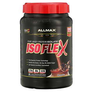 ALLMAX Nutrition, Isoflex, 100% Ultra-Pure Whey Protein Isolate (WPI Ion-Charged Particle Filtration), Chocolate, 32 oz (907 g)