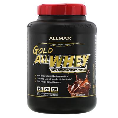 Купить Gold AllWhey, 100% Premium Whey Protein, Chocolate, 5 lbs (2.27 kg)