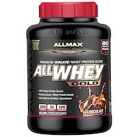 AllWhey Gold, 100% сывороточный протеин + премиальный изолят сывороточного протеина, шоколад, 5 ф. (2,27 кг) - фото