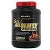 ALLMAX Nutrition, Gold AllWhey(ゴールドオールホエイ)、100%プレミアムホエイタンパク質、チョコレート、2.27kg(5ポンド)