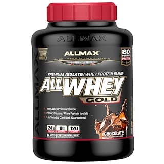 ALLMAX Nutrition, AllWhey Gold, Premium Isolate/Whey Protein Blend, Chocolate, 5 lbs. (2.27 kg)