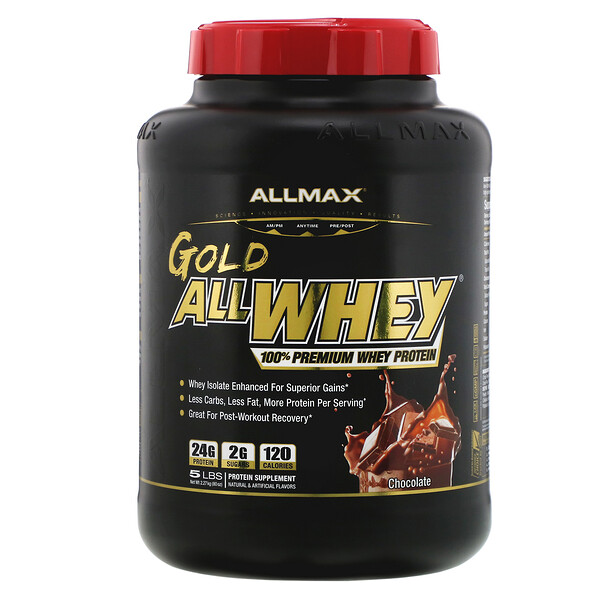 Gold AllWhey, 100% Premium Whey Protein, Chocolate, 5 lbs (2.27 kg)