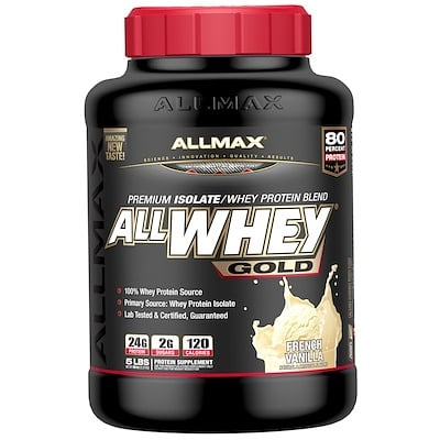 AllWhey Gold, 100% Whey Protein + Premium Isolate, French Vanilla, 5 lbs. (2.27 kg)