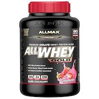 AllWhey Gold, 100% сывороточный протеин + Premium изолят сывороточного протеина, клубника, 5 ф. (2,27 кг) - фото
