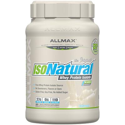 IsoNatural, чистейший изолят сывороточного белка, оригинальный вкус без ароматизаторов, 907 г (2 фунта)