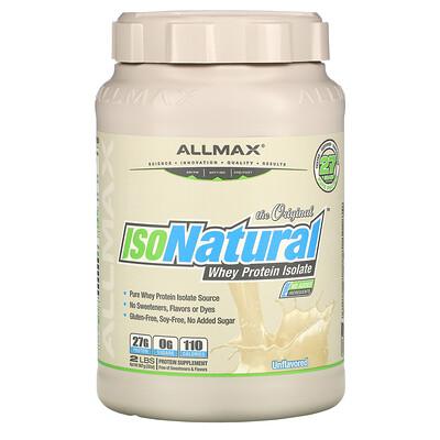 ALLMAX Nutrition IsoNatural, чистейший изолят сывороточного белка, оригинальный вкус без ароматизаторов, 907 г (2 фунта)  - купить со скидкой