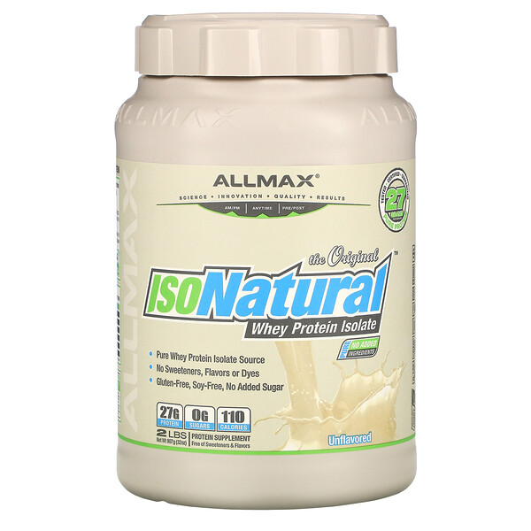 IsoNatural, Pure Whey Protein Isolate, The Original, Unflavored, 2 lbs (907 g)