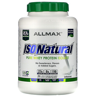 ALLMAX Nutrition, IsoNatural, Pure Whey Protein Isolate, The Original, Unflavored, 5 lbs (2.25 kg)