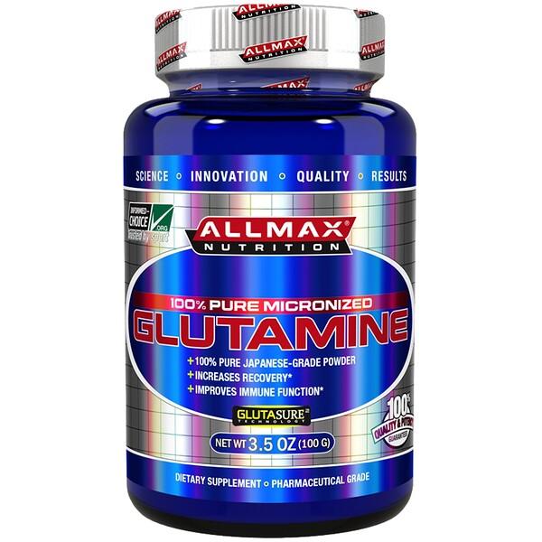 ALLMAX Nutrition, 100% Pure Japanese-Grade Glutamine Powder, 3.5 oz (100 g) (Discontinued Item)