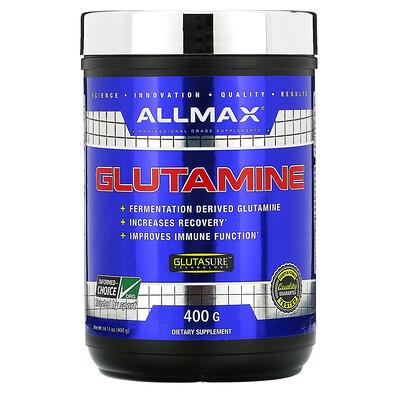 Купить ALLMAX Nutrition 100% чистый микронизированный глутамин, без глютена, веганский продукт, с сертификатом кошерности, 400г (14, 1фунтов)