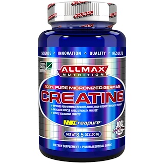 ALLMAX Nutrition, Creatine Powder, 100% Pure Micronized Creatine Monohydrate, Pharmaceutical Grade Creatine, 3.5 oz (100 g)