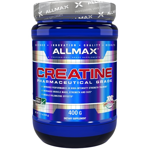 Creatine Powder, 100% Pure Micronized Creatine Monohydrate, Pharmaceutical Grade Creatine, 14.11 oz (400 g)