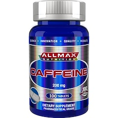 ALLMAX Nutrition, 100% Pure Caffeine + Easy-To-Cut in Half Pill, 200 mg, 100 Tablets