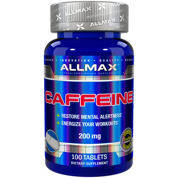 ALLMAX Nutrition, Caffeine , 200 mg, 100 Tablets