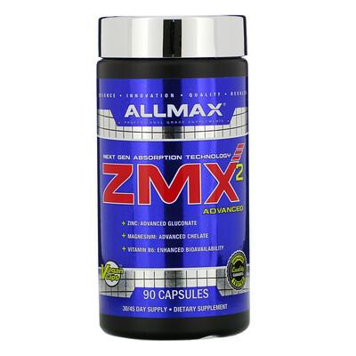 Купить ALLMAX Nutrition ZMX2, хелат магния с улучшенной усвояемостью, 90 капсул