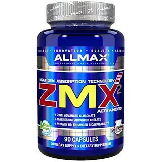 ALLMAX Nutrition, ZMX2 High-Absorbtion Magnesium Chelate, 90 Capsules