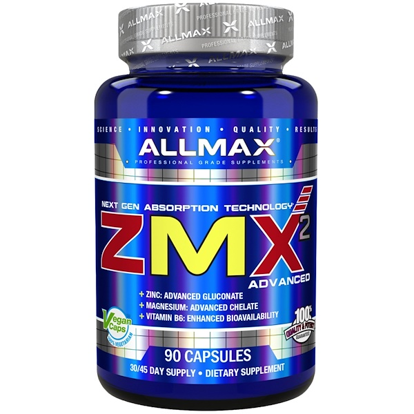 ALLMAX Nutrition, ZMX2 Advanced, عدد 90 كبسولة