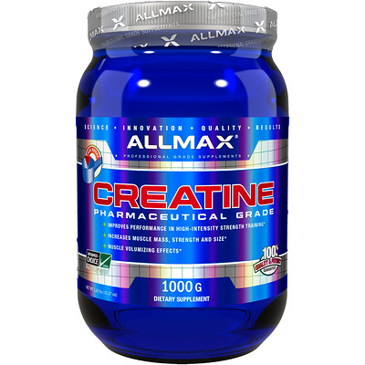 Creatine Powder, 100% Pure Micronized Monohydrate, Pharmaceutical Grade Creatine, 1000 g