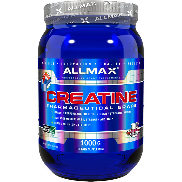 Creatine Powder, 100% Pure Micronized Creatine Monohydrate, Pharmaceutical Grade Creatine, 1000 g