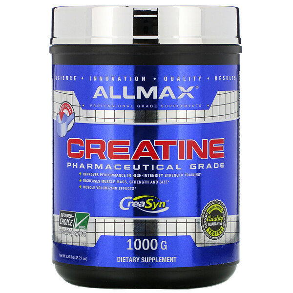 ALLMAX Nutrition, Creatine Powder, 100% Pure Micronized Creatine Monohydrate, Pharmaceutical Grade Creatine, 1000 g