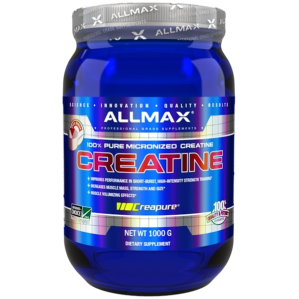 ALLMAX Nutrition, 100% Pure Micronized Creatine, 1000 g