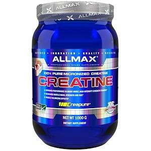 ALLMAX Nutrition, 100% чистый микронизированный креатин, 1000 г
