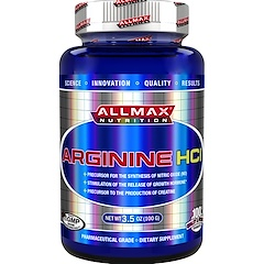 ALLMAX Nutrition, 100% Pure Arginine HCI Maximum Strength + Absorption, 3.5 oz (100 g)