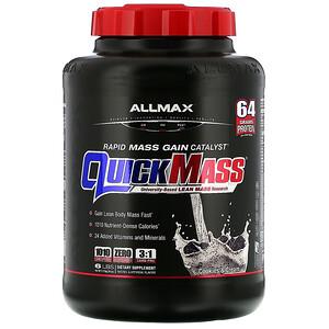 Оллмакс Нутришн, Quick Mass  Rapid Mass Gain Catalyst, Cookies & Cream, 6 lbs (2.72 kg) отзывы